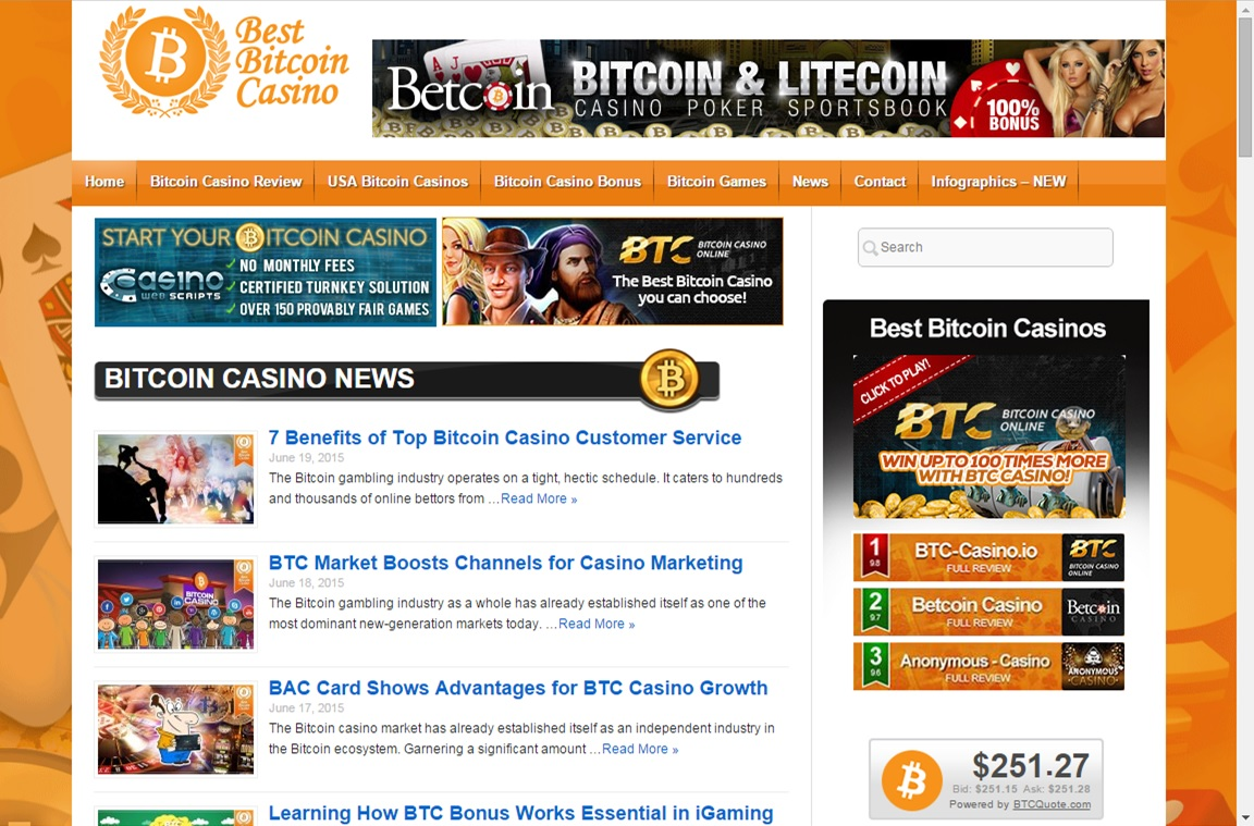 Best Bitcoin Casino screenshot