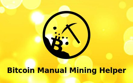 Bitcoin Manual Mining Helperlogo