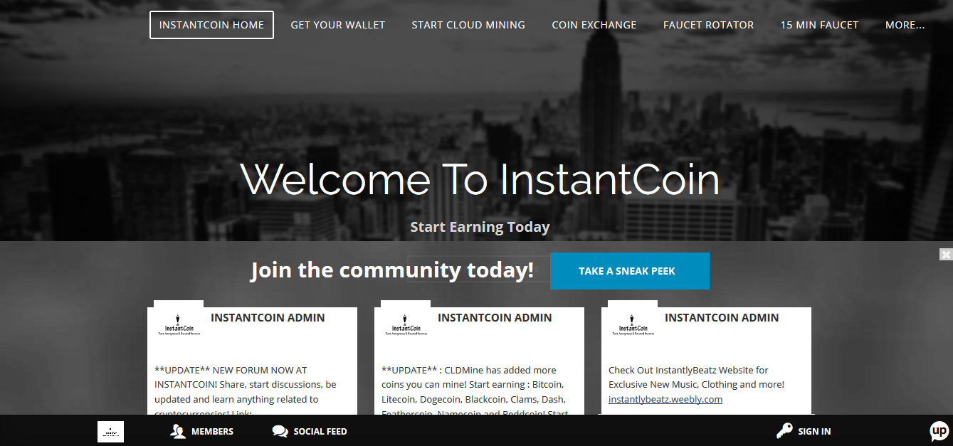 INSTANTCOIN screenshot