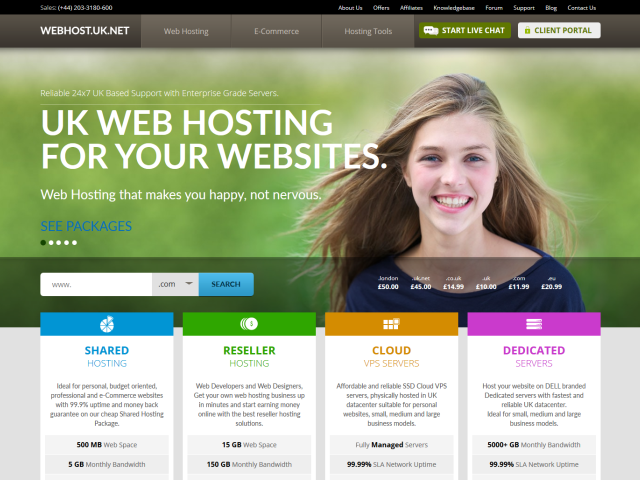 WebHost UK LTD screenshot