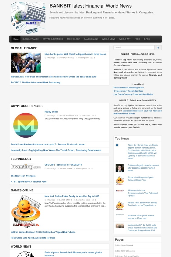 BankBit Bitcoin and Financial News screenshot
