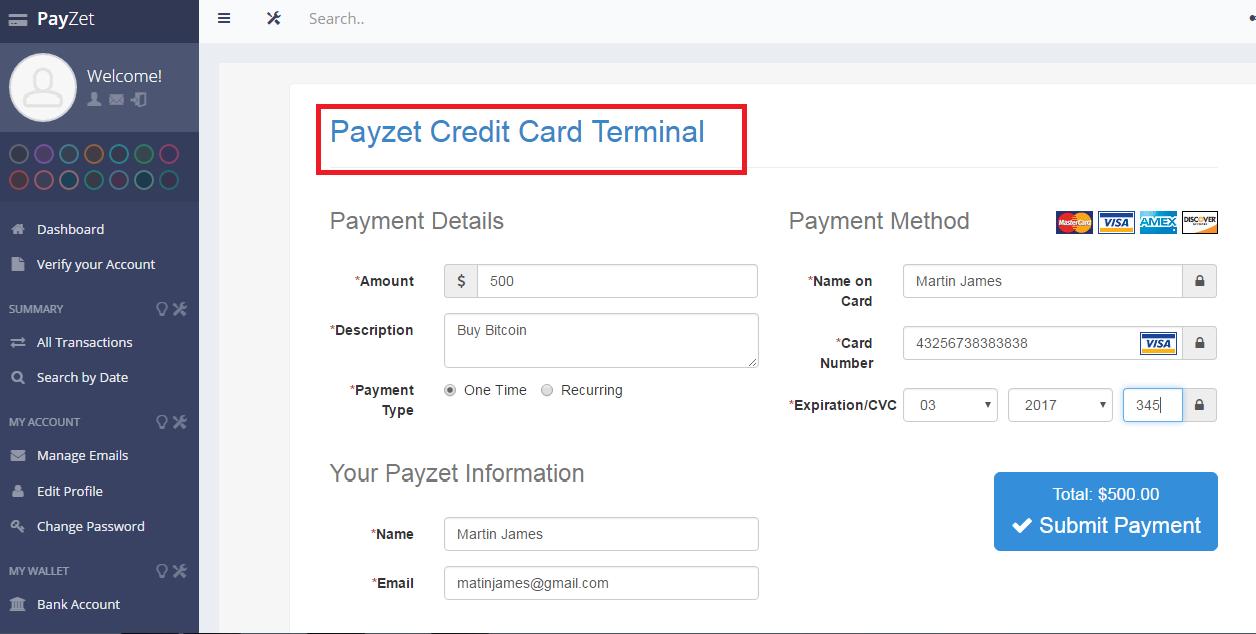 Payzet  screenshot