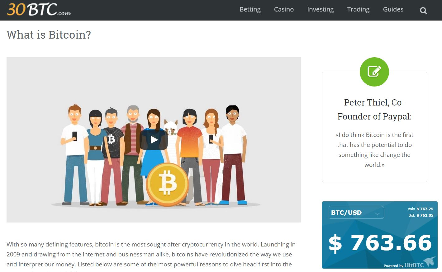 30BTC.com screenshot