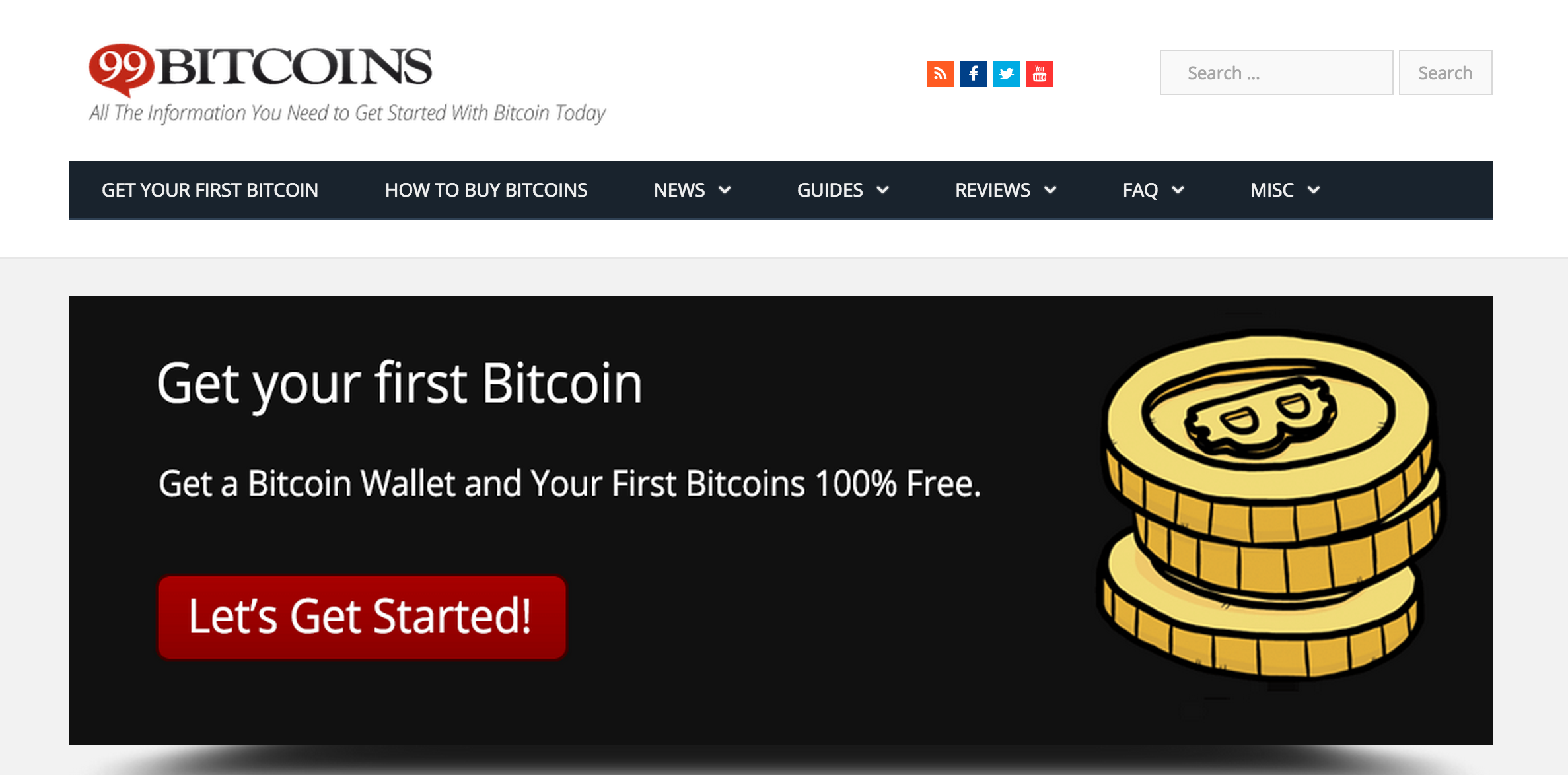 99Bitcoins screenshot