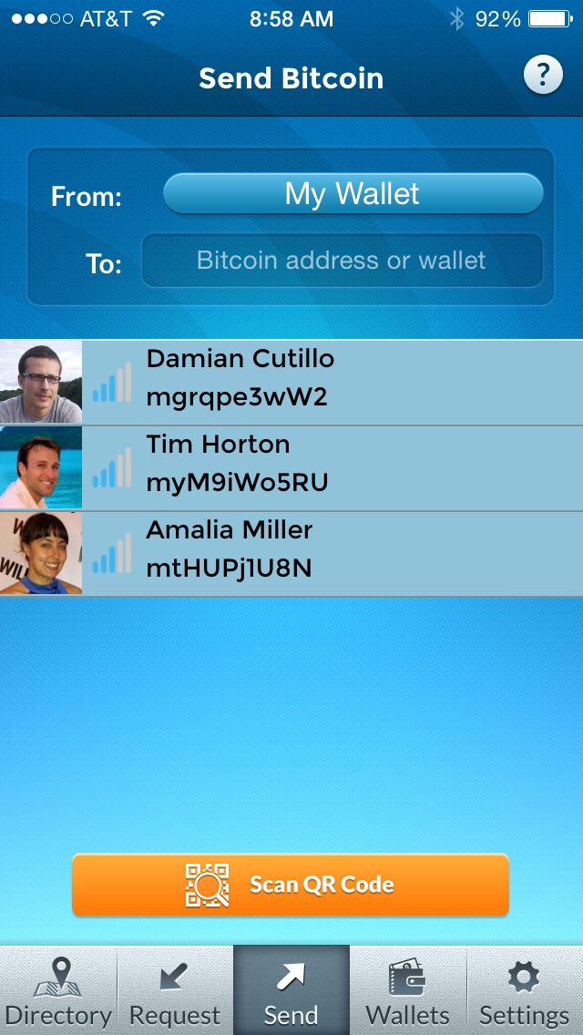 Airbitz screenshot