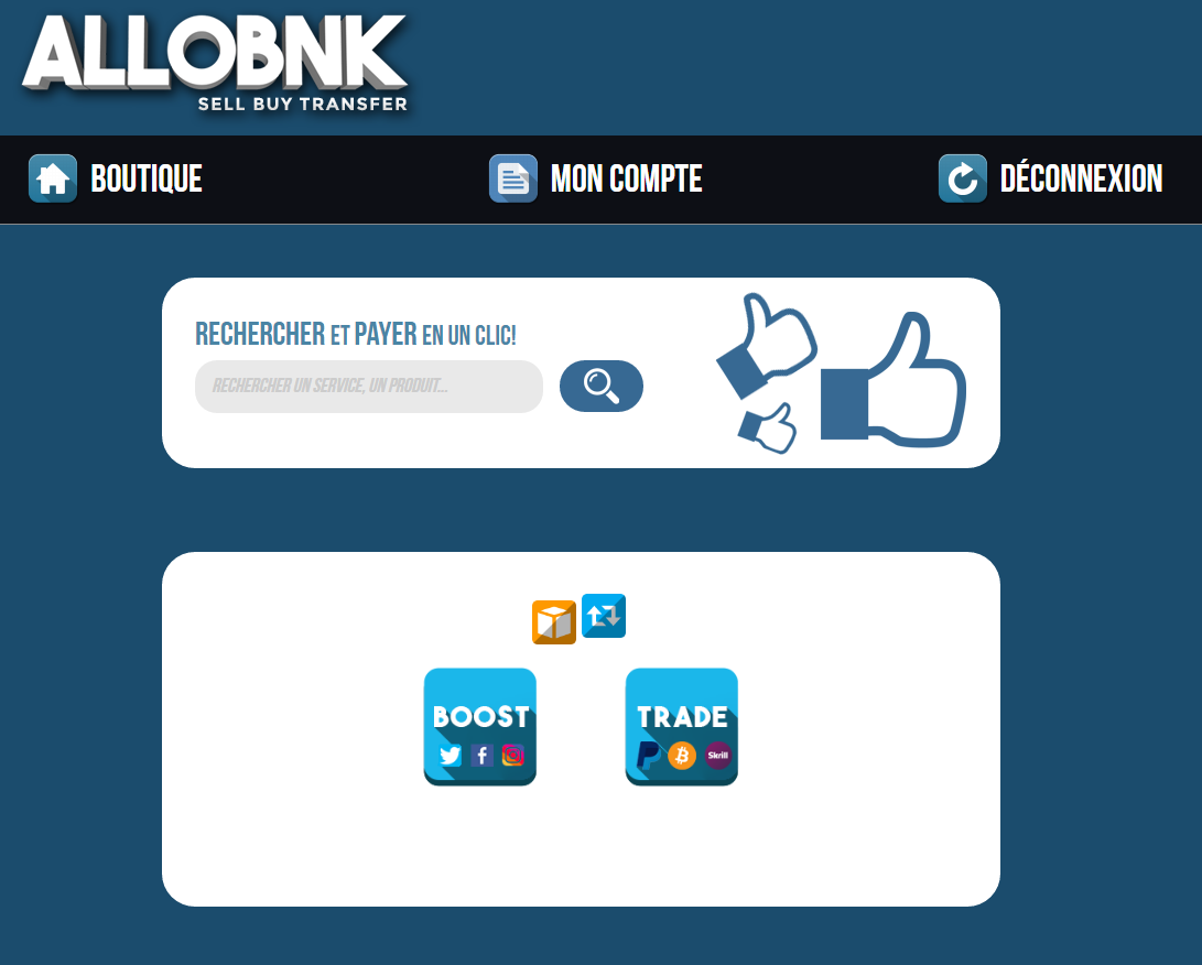 Allobnk screenshot