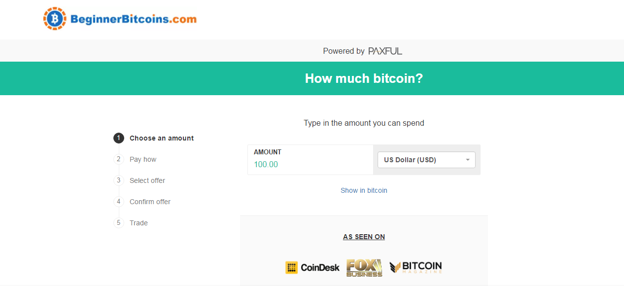 Beginner Bitcoins screenshot