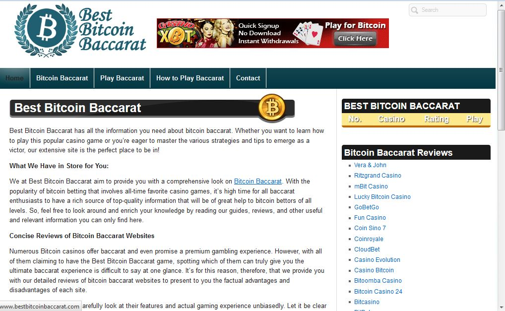 Best Bitcoin Baccarat screenshot