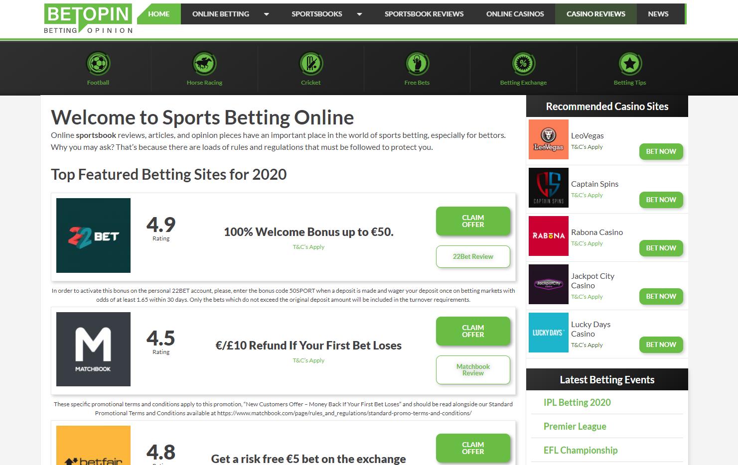 Betopin - Sports Betting Online screenshot