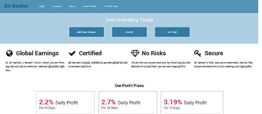 bit-banker Bitcoin Investment Service  screenshot