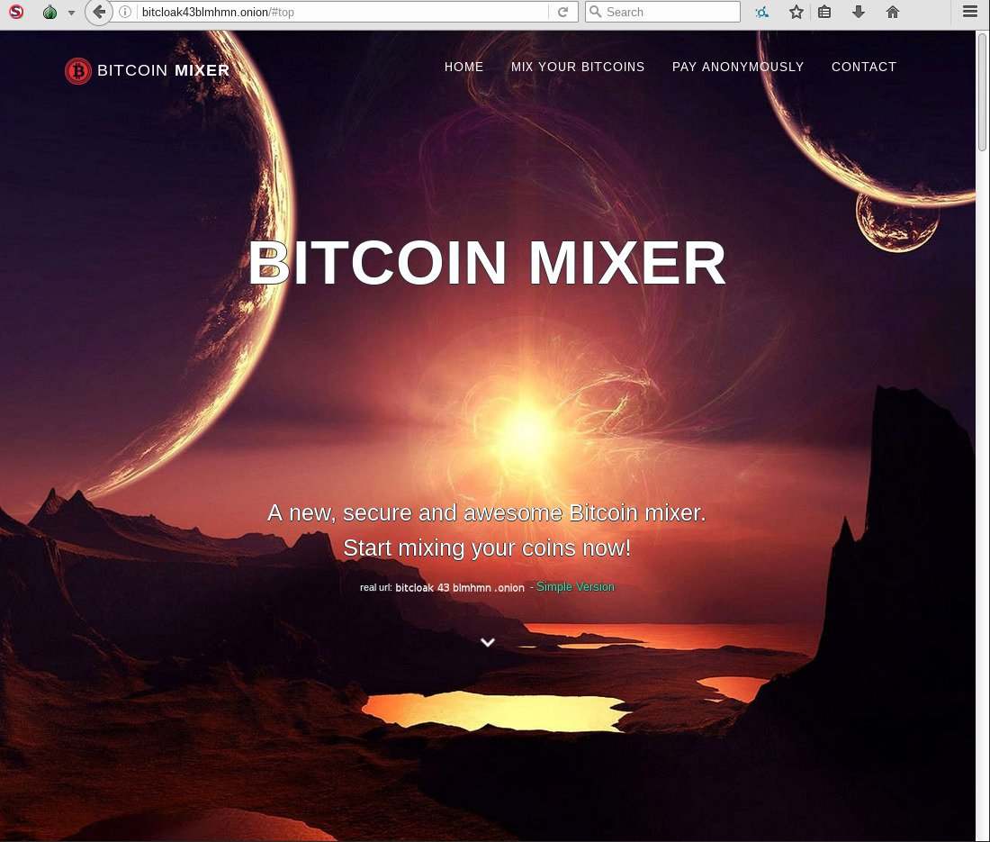 BitCloak Bitcoin Mixer screenshot