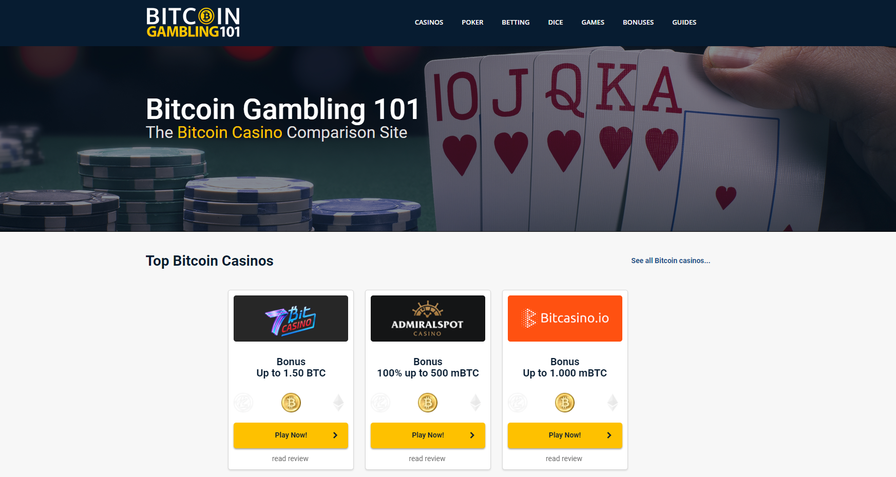 Bitcoin Gambling 101 screenshot