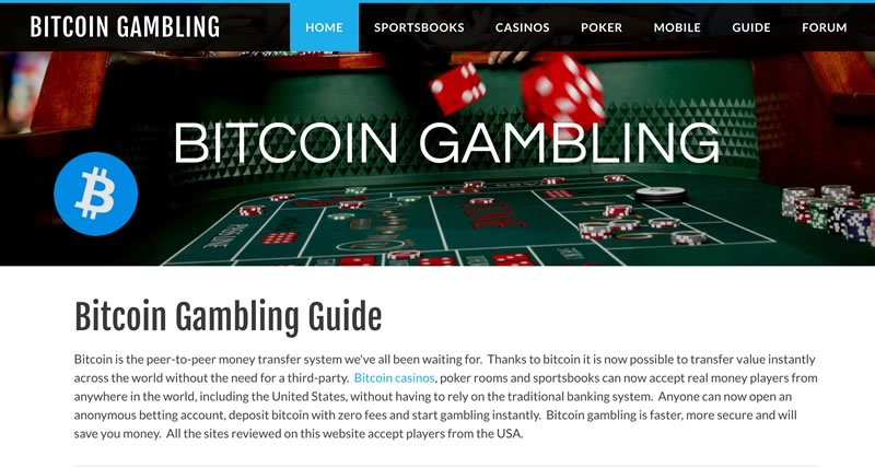 Bitcoin Gambling Forum screenshot