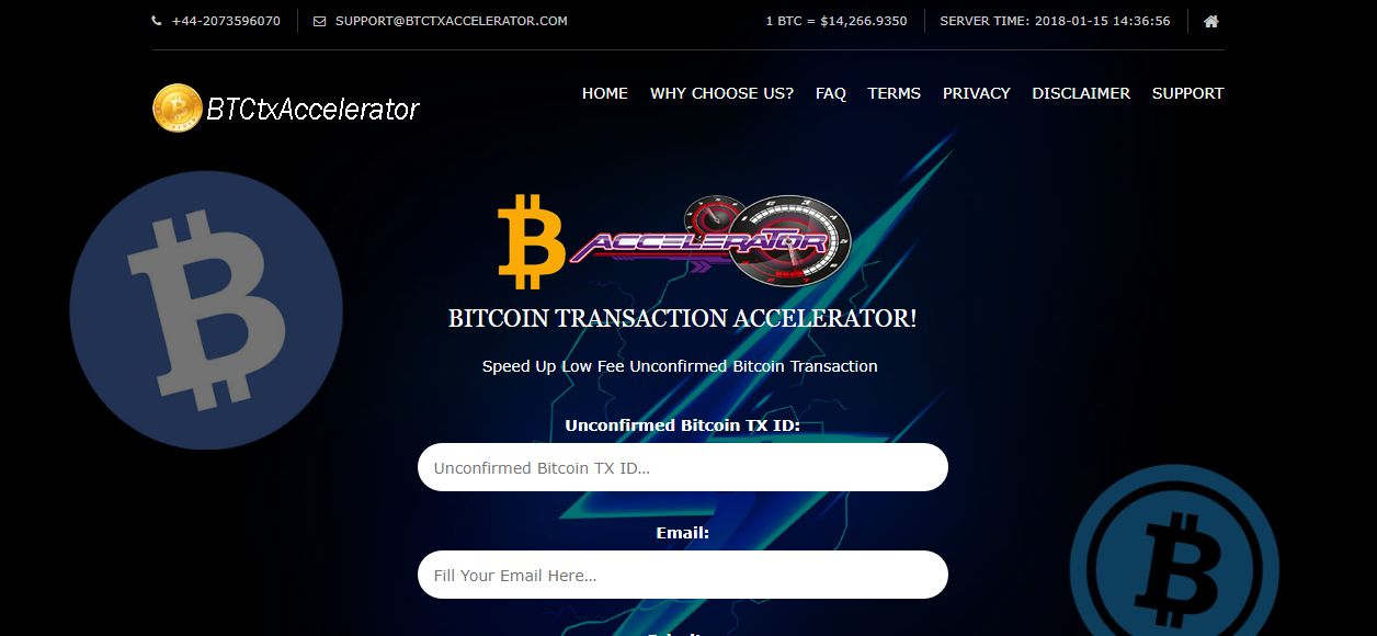 Bitcoin Transaction Accelerator screenshot