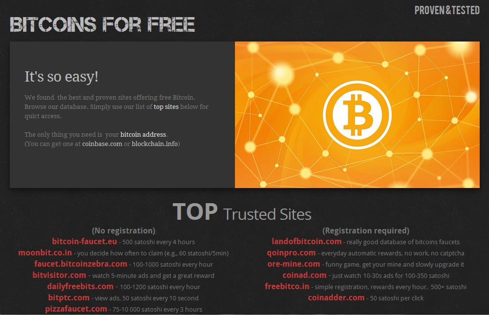Bitcoins For Free - Reviews - Bitcoin Free Bitcoins - BitTrust org