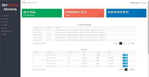 BitCore Mining screenshot