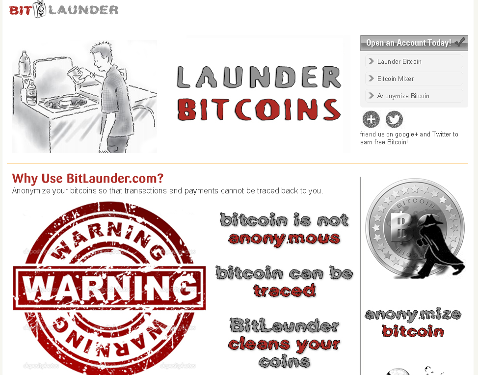 bitlaunder.com screenshot