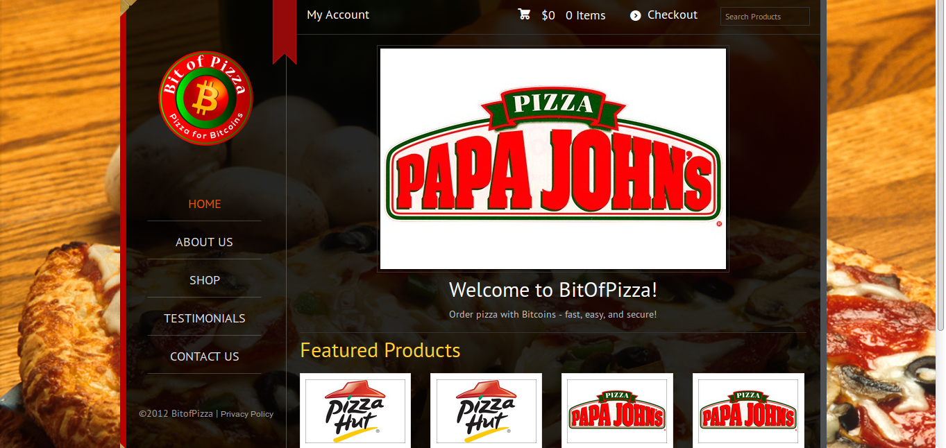 Bitofpizza.com screenshot