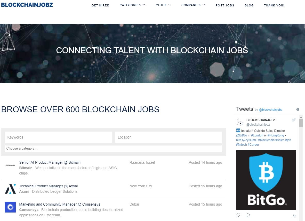 BLOCKCHAINJOBZ screenshot