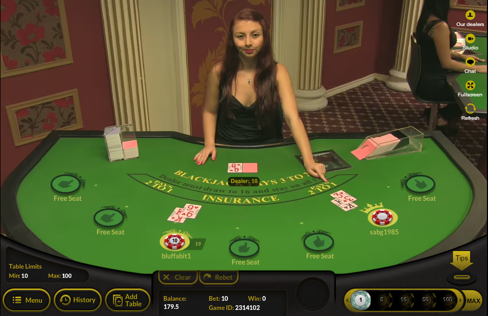 Bluffabit Casino screenshot