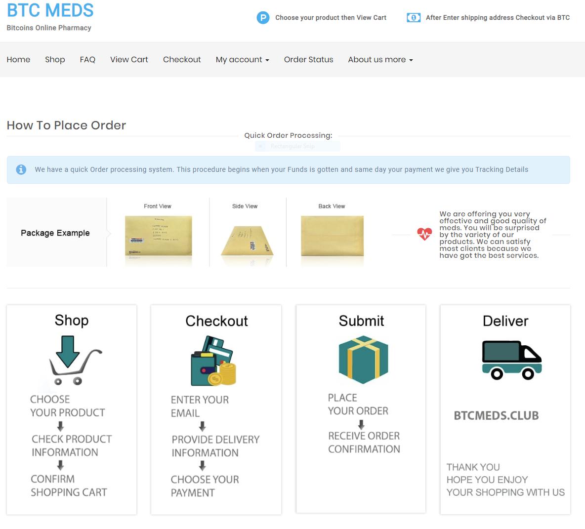 Btc Meds Pharmacy screenshot