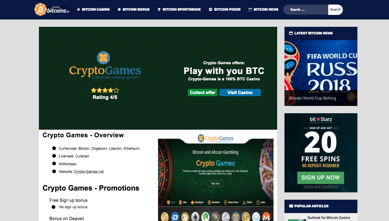casinobitcoins.io screenshot