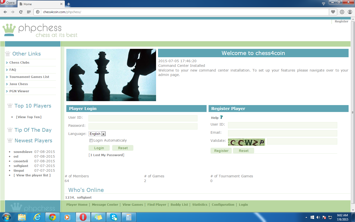 chess4coin screenshot