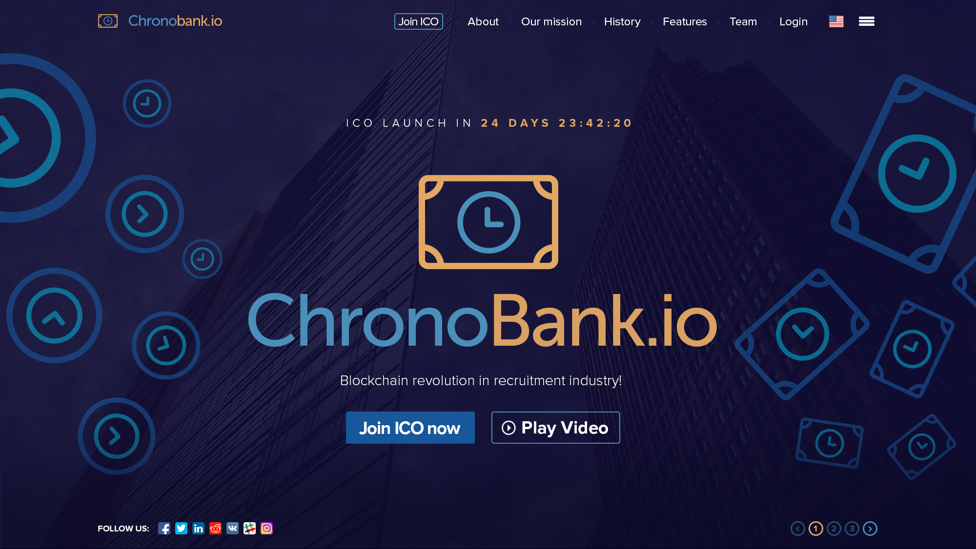 Chronobank.io screenshot