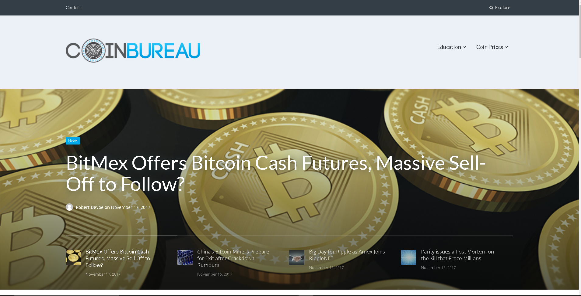 Coin Bureau screenshot