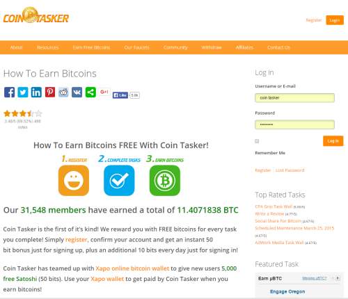 Coin Tasker screenshot