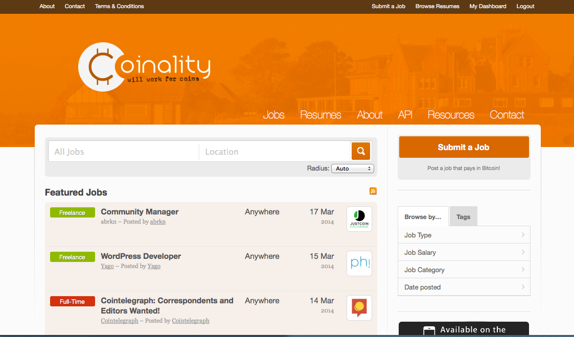Coinality screenshot