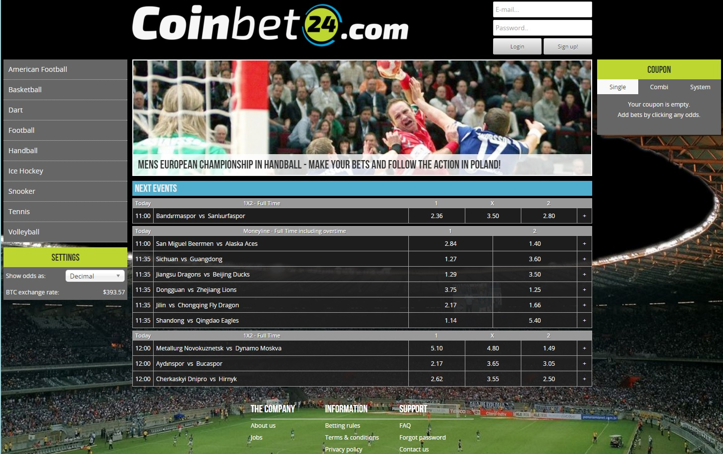 Coinbet24 screenshot