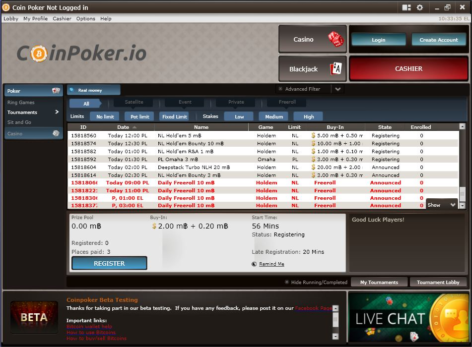CoinPoker.io screenshot