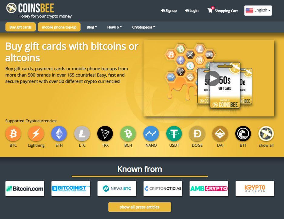 Coinsbee screenshot