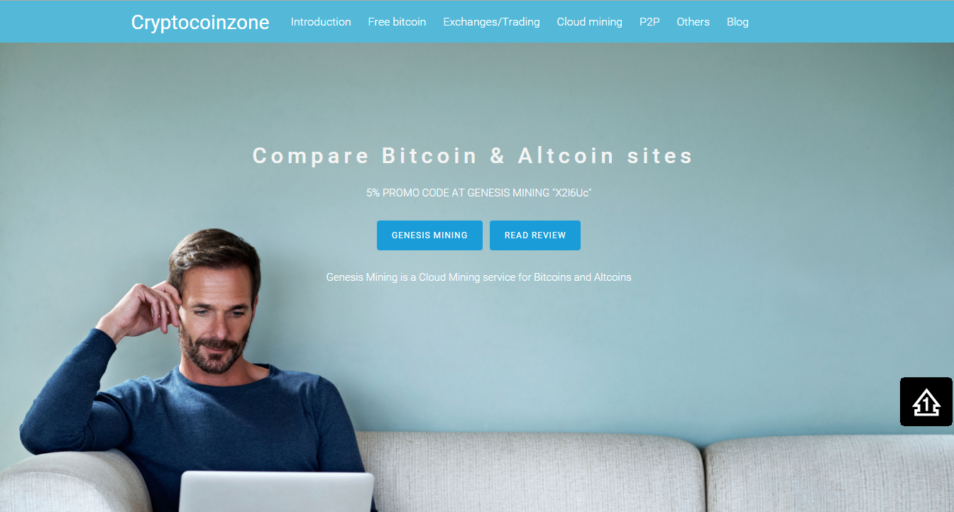 Cryptocoinzone screenshot