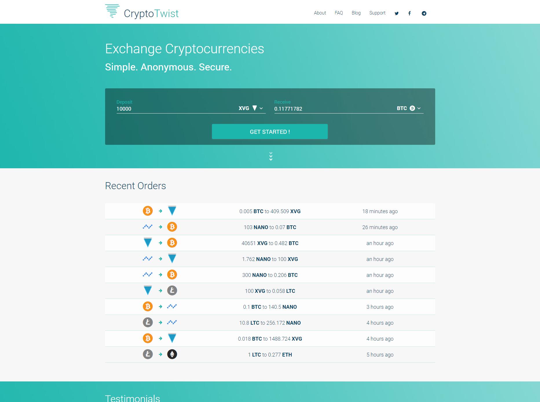 CryptoTwist.io screenshot
