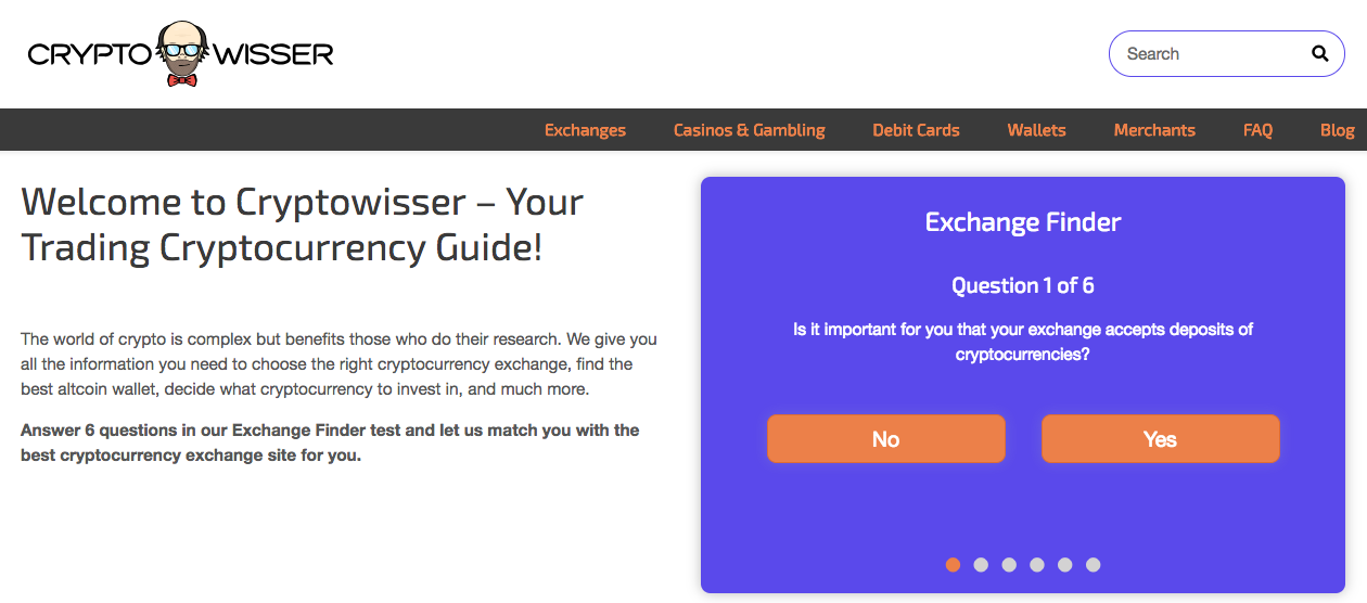 Cryptowisser screenshot
