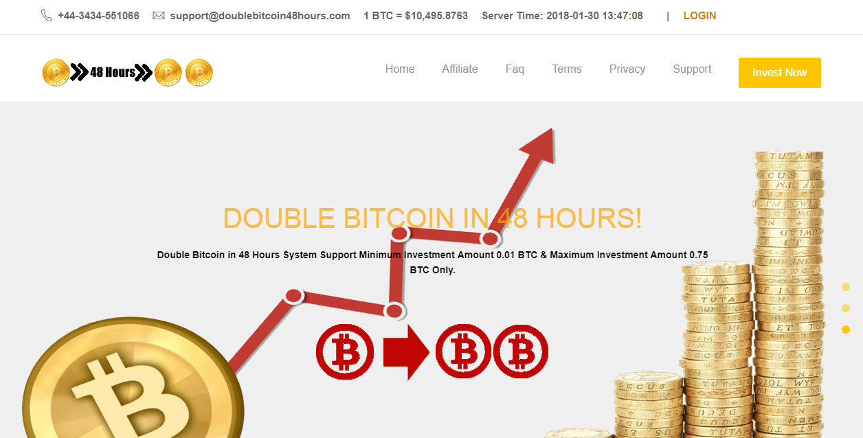 DOUBLE BITCOIN IN 48 HOURS screenshot