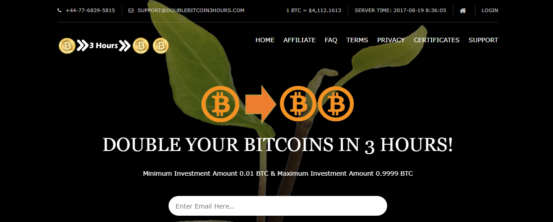Double Bitcoin 3 Hours screenshot