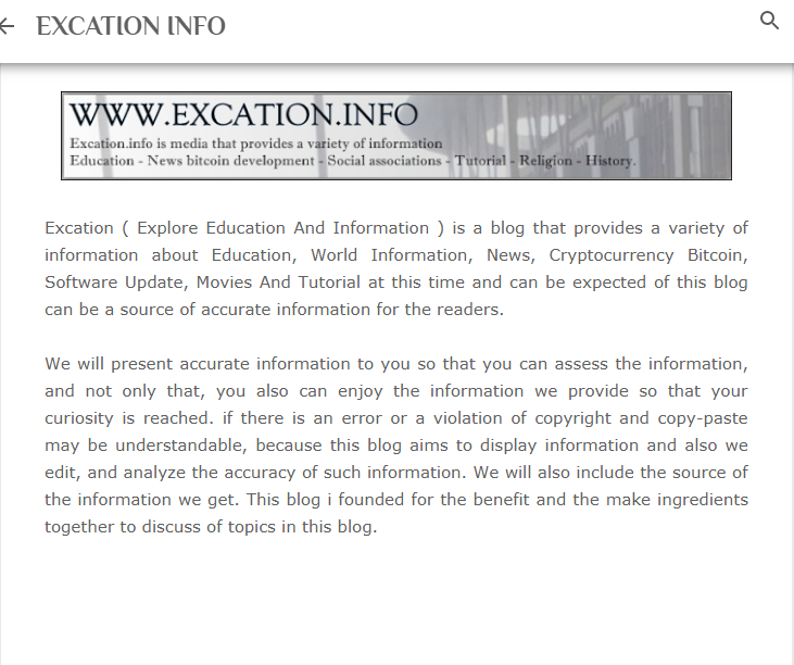 EXCATION screenshot