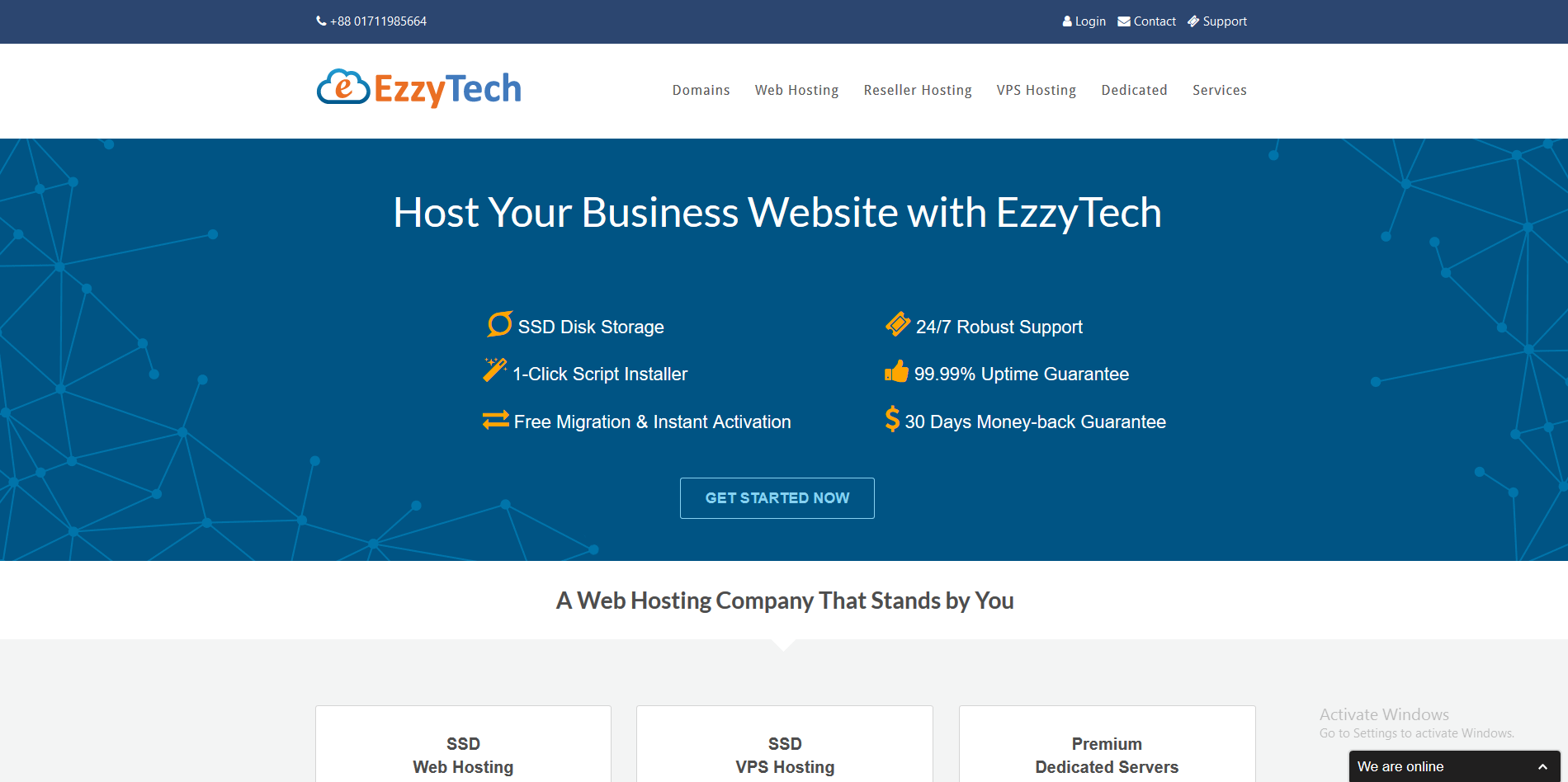 EzzyTechNetworks screenshot