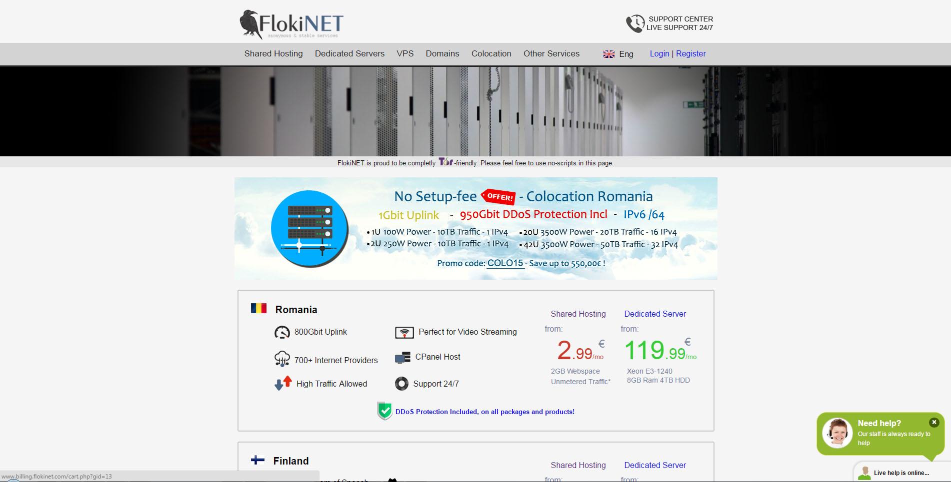 Flokinet ehf screenshot