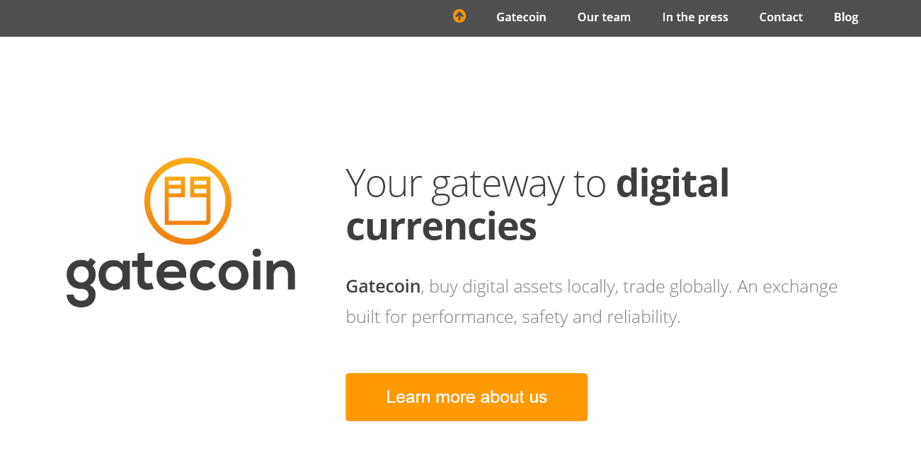 Gatecoin Ltd. screenshot