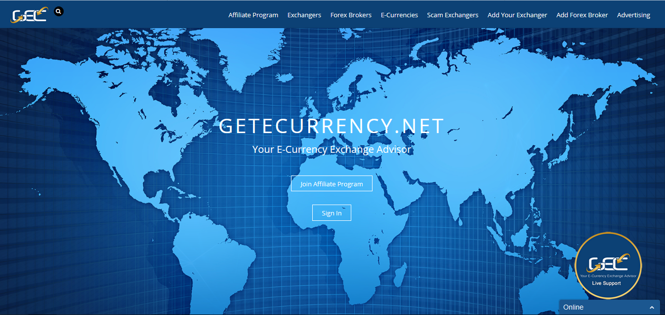 Getecurrency.Net screenshot