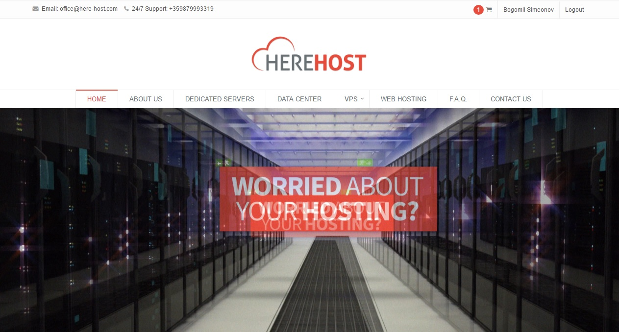Here Host LTD. screenshot