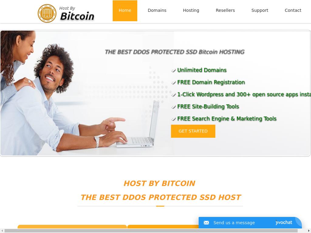 Host By Bitcoin screenshot