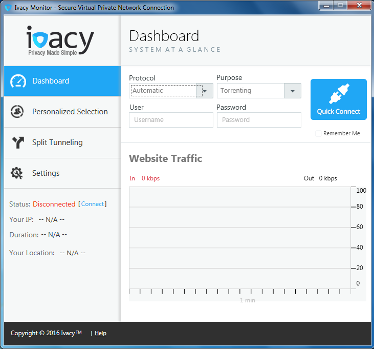 Ivacy screenshot