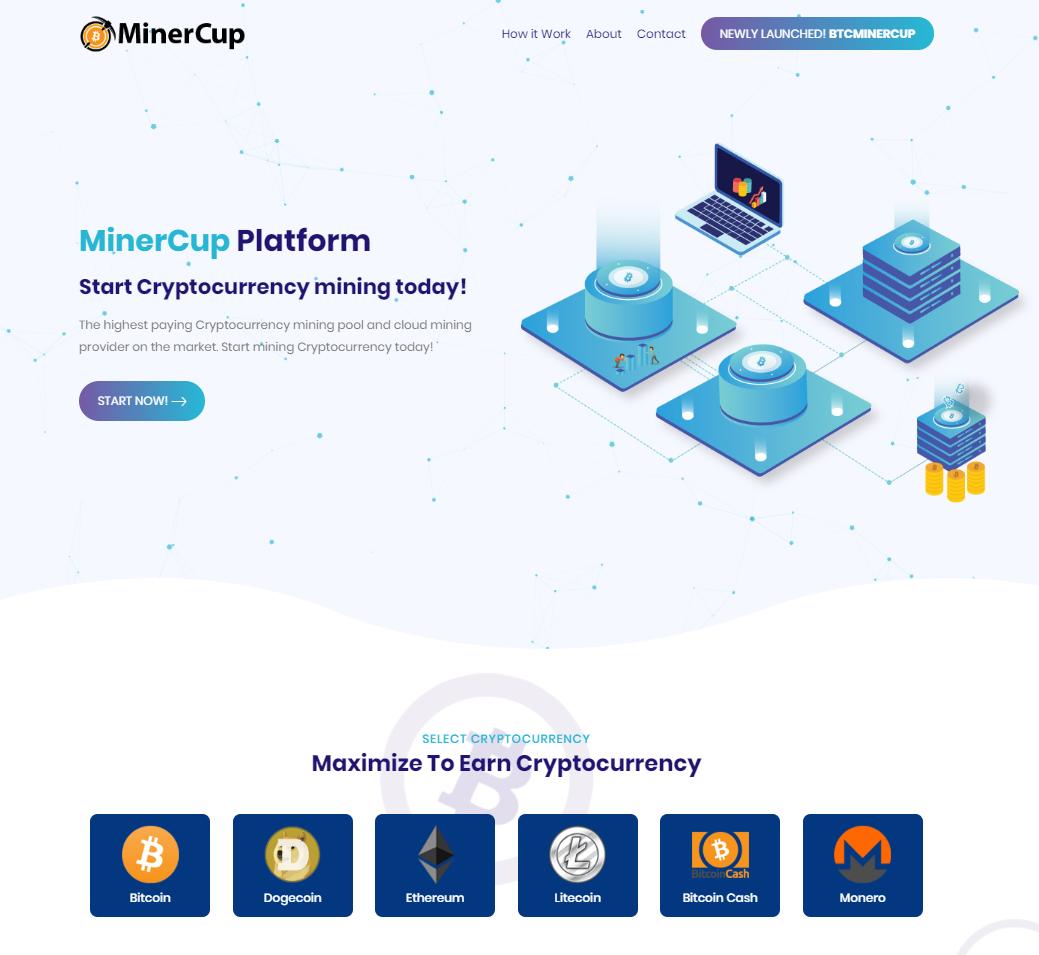 MinerCup screenshot