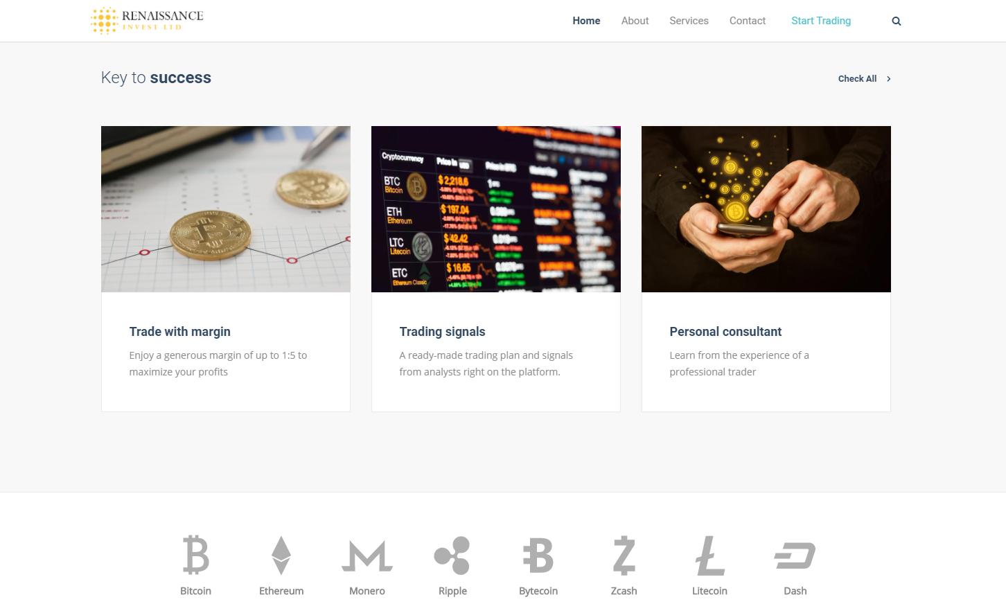 Renaissance Invest LTD screenshot