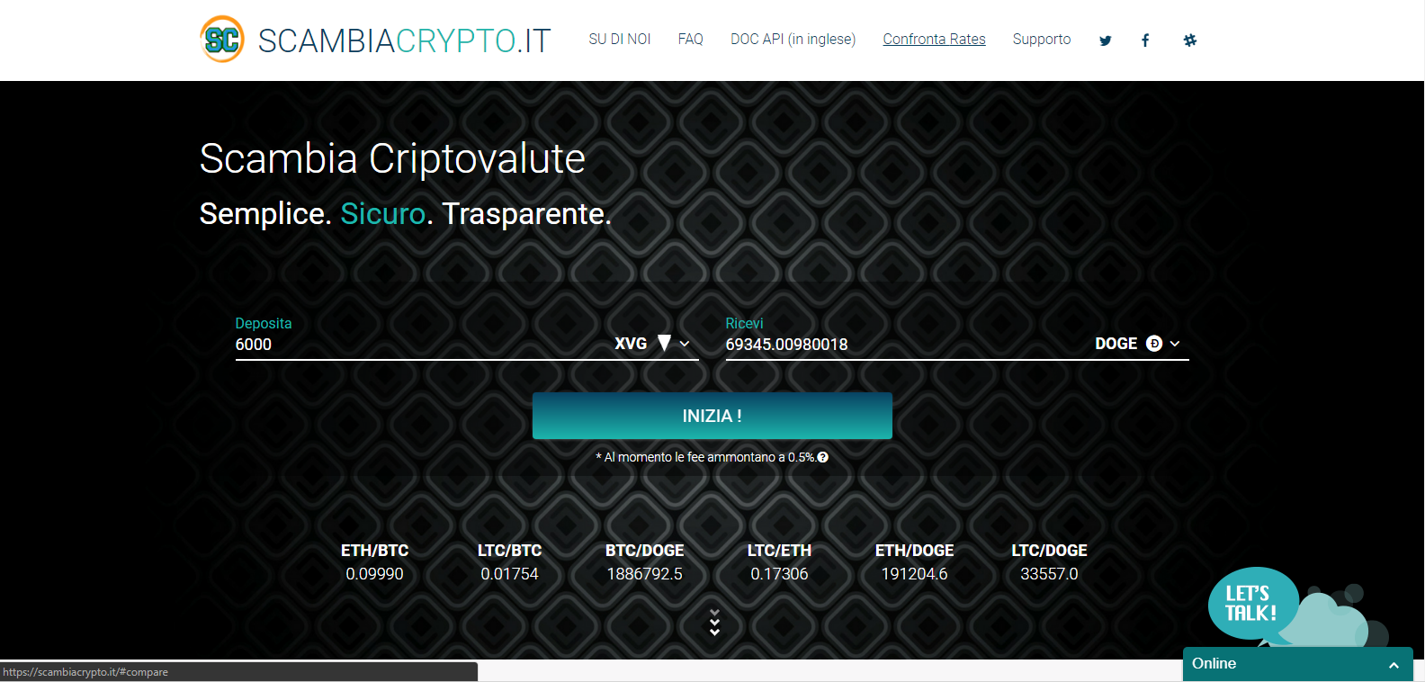 ScambiaCrypto screenshot